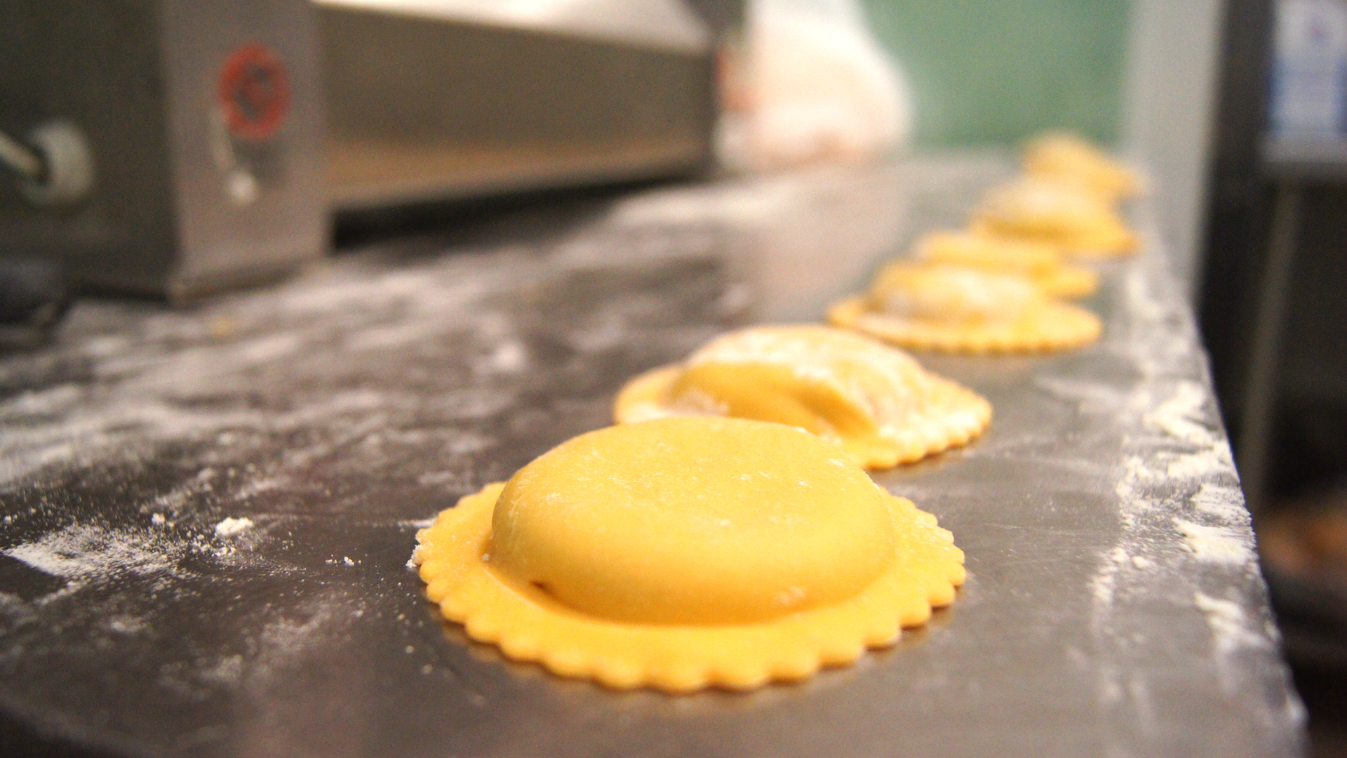 fresh handmade ravioli at Franco's Ialian restaurant